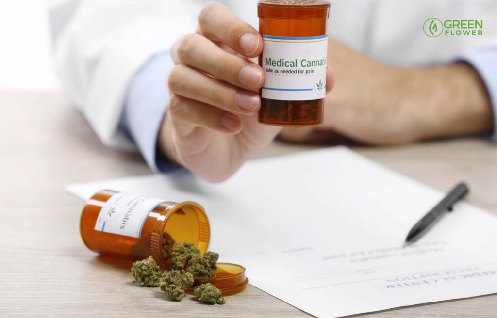 doctor holding cannabis container and prescription pad per cannabis laws in australia