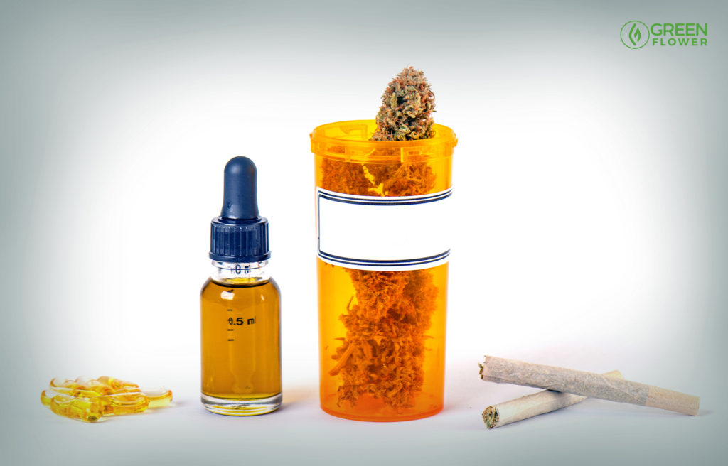 capsules, tincture, flower, and joints -- various thc products