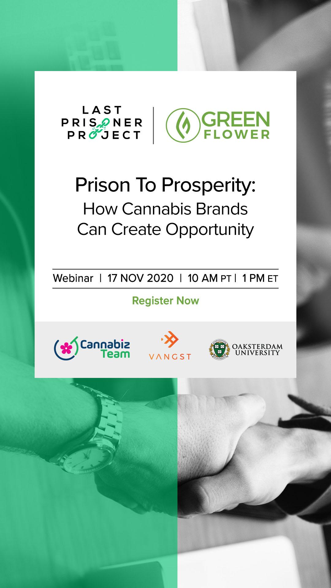 green flower and LPP webinar banner ad