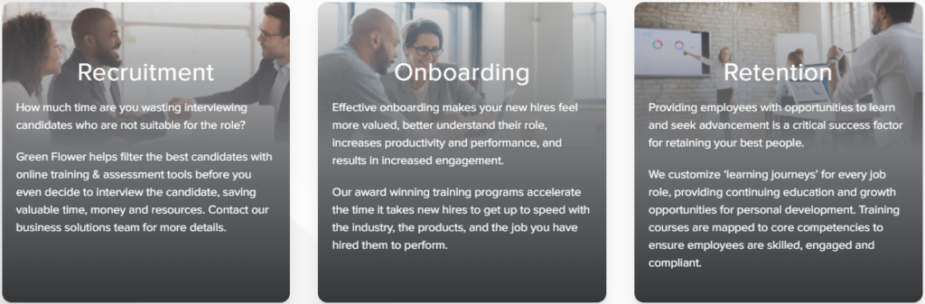 Green Flower also has several training options to facilitate employee onboarding & retention programs.